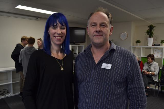 Kristy-Lee Swift and Cr Simon Brooks (Photo by Julia Madotti)